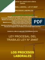 3. LOS PROCESOS LABORALES CONTENCIOSOS Y NO CONTENCIOSOS EN LA LEY PROCESAL DEL TRABAJO LEY Nº 29497