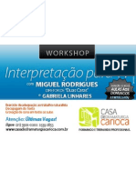 Workshop Miguel Rodrigues e Gabriela Linhares