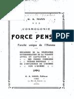 1910 Mann La Force Pensee