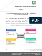 UNIDAD 4 CONTROL PRESUPUESTARIO ADMINISTRATIVO Y DIFERENTES ENFOQUES DEL PRESUPUESTO