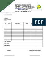 Format order pesanan