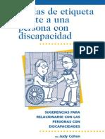 Reglas de etiqueta frente a una persona con discapacidad