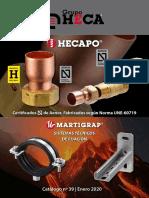 Materiales de Construccion Catalogo Precios Fontanteria HECAPO