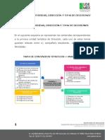 UNIDAD 1 AUTORIDAD, DIRECCIÓN Y TOMA DE DECISIONES