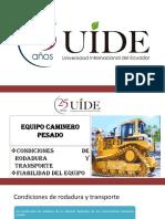 CONDICIONES DE RODADURA Y FIABILIDAD DEL EQUIPO