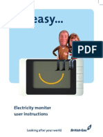 British Gas Electricity Monitor Manual