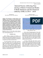 Analysis of Internal Factors Affecting NonPerforming Financing at Sharia Commercial Banks Registered With Bank Indonesia and the Financial Services Authority (OJK) in 2014 – 2018