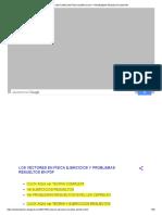 Los Vectores en Física Ejercicios y Problemas Resueltos en PDF