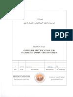 SECTION 16725 Telephone & Intercom System Rev 0