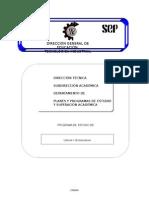 PROGRAMA DE CIENCIA TECNOLOGIA III CETIS 5