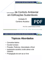 7 - Conforto Ambiental em Edificações Sustentáveis - Construção Sustentável_UIII_Conforto Acústico_Goiânia
