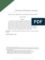 Economics of Permissioned Blockchain Adoption