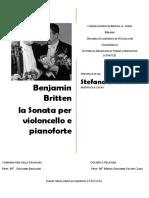 Benjamin Britten, la Sonata per violoncello e pianoforte
