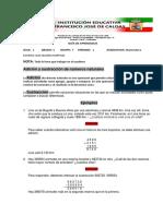 GUIA DE MATEMATICA GRADO SEXTO
