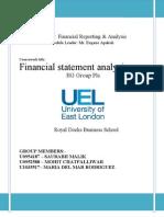 Financial Statement Analysis of BG Group Plc.