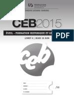 CEB 2015 histoire géo