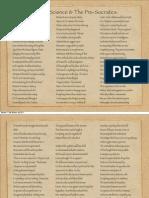 Ionian Science & The Pre-Socratics.