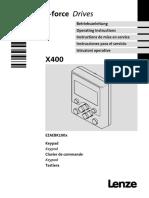 Keypad X400