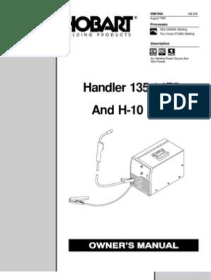 Hobart Handler 175 220 VAC MIG Welder User Manual o944_hob | Welding