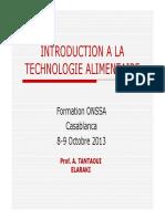 Introduction a La Technologie Alimentaire