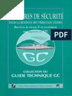 Guide Technique Gc – Barieres de Securite Pour La Retenue Des Vehicules Legers Niveau n