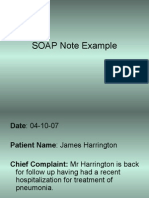 Harrington SOAP note