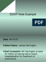Harrington SOAP note