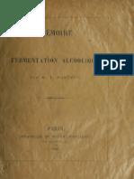 Mémoire La Fermentation Alcoolique Pasteur