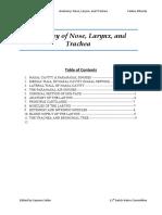 nose, trachea, and larynx