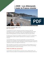 Vacances 2020  Les Allemands désertent mais la France résiste_20200919102410