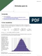 Deducción de las fórmulas para la incertidumbre