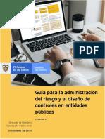 Guía para la administración del riesgo y el diseño de controles en entidades públicas - Versión 5 - Diciembre de 2020