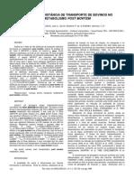 Efeito da distancia de transporte de bovinos no metabolismo post mortem