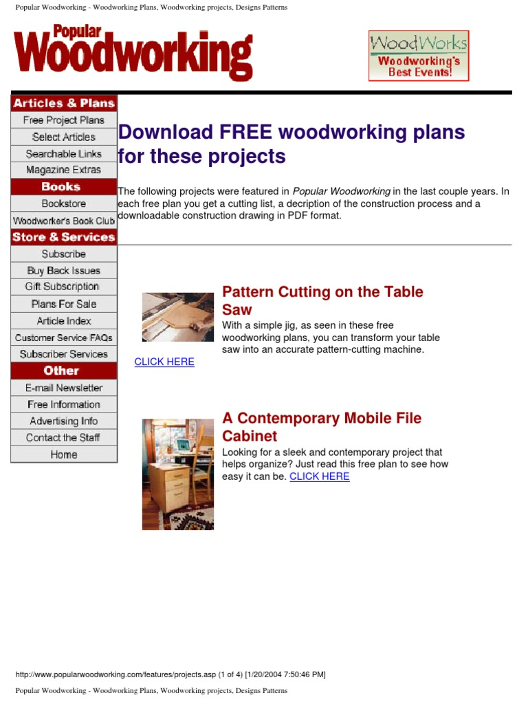 Diy Popular Woodworking Plans Cabinetry Crafts