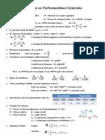 Notations en Turbomachines Generales