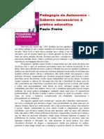 Pedagogia da Autonomia - resumo 5