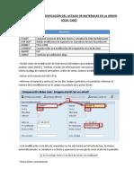 PP - Procesar modificación del listado de materiales en la orden (CS14, CO02)