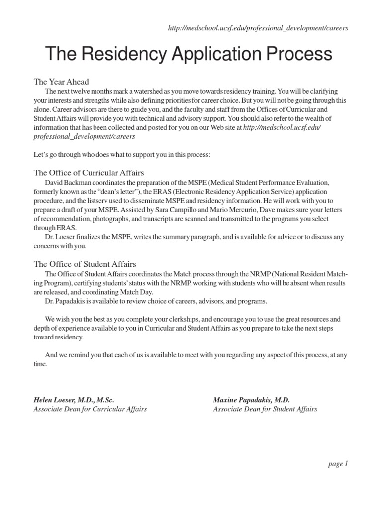 ucsf nextstep | Residency (Medicine) | Medical School