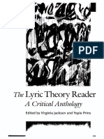(the Lyric Theory Reader, 1) Virginia Jackson, Yopie Prins (Eds.) - The Lyric Theory Reader_ a Critical Anthology-Johns Hopkins University Press (2014)
