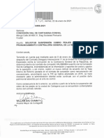 Oficio del Alcalde William Dau a Conalvias