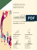 Certificado de participación Sole