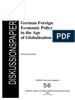 German Foreign Economic in the Age of Globalisation