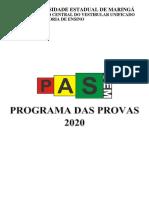 Programação Pas 2020
