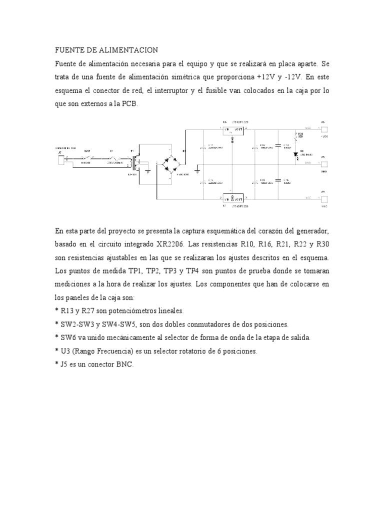 Circuito Xr2206 : Generador xr