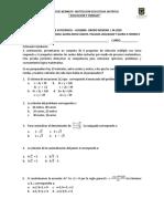 5. PRUEBA DE SUFICIENCIA MATEMATICAS 9ª