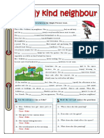 My Kind Neighbour Simple Present Grammar Guides Reading Comprehension Exercises Tes 74419 (2)