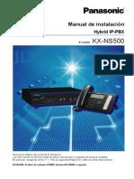 Manual de Instalación-KX-NS500_Hybrid IP-PBX