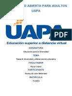 TAREA 4 Educacion para la Diversidad