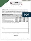 eXposed Homes Customer Survey