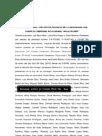Acta Constitutiva Del Consejo Campesino